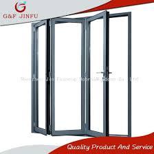 4 panel aluminium profile tempered glass folding doors metal closet home depot china panels