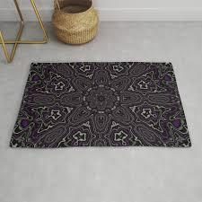 purple gray and black kaleidoscope rug