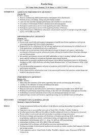 Performance Architect Sample Resume Performance Architect Resume Samples Velvet Jobs 1