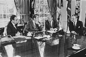 nixon office. Kissinger, Nixon, Ford, And Haig Meet In The Oval Office, October 13, 1973. (Richard Nixon Library) Office