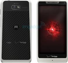 motorola droid razr white. so not entirely white. then again, with that kevlar back (that still needs to shine), this is no surprise really. and still, for lovers of all things white, motorola droid razr white t