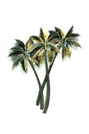 palm tree metal wall art s outdoor trees large tropical w