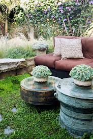 eclectic outdoor furniture. Funky Outdoor Furniture Landscape Eclectic With Block Wall Brown Flower. Image By: Antonio Martins Interior Design