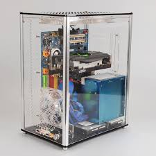 QDIY PC A009 ATX Transparent Computer Case PC Case Water Cooled Acrylic  Computer Case-in Computer Cases & Towers from Computer & Office on  Aliexpress.com ...