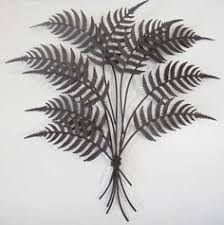 fern leaf metal wall art