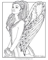 Christmas Coloring Pages Retro Angels The Graphics Fairy Angel ...