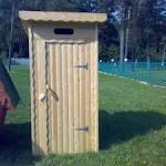 Как построить деревянный туалет своими руками 96