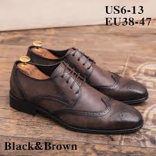 2019 men s soft leather dress oxfords shoes zapatos de hombre comfortable classic modern formal business lace up formal shoes