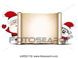 Christmas Design Template Clip Art Of Christmas Card Design Template Santa And Cat K42351118