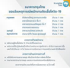 Krungthai Care - ธนาคารกรุงไทย ขอแจ้งเหตุการณ์พนักงานติดเชื้อโควิด-19  รายละเอียดเพิ่มเติม คลิก :  https://krungthai.com/th/krungthai-update/news-detail/792 กรุงเทพฯ -  สำนักงานใหญ่ อาคารนานาเหนือ จำนวน 1 ราย - อาคารไสวบราวน์ 2 ชั้น 4 จำนวน 1  ราย - อาคาร ...