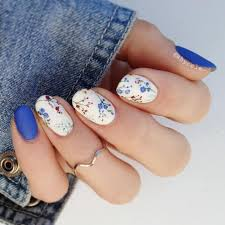 Blue Flower Nail Designs 85 Stunning Flower Nail Art Designs That Are Insanely Beautiful