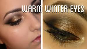 warm winter eyes makeup tutorial