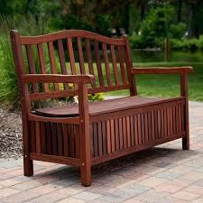 wooden benches storage