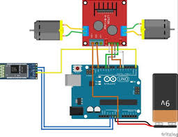 circuit schematic of arduino bluetooth rc car more info bluetooth controlled rc car using h bridge two dc motors picture of wiring