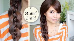 Plaiting Hair Style unique 5 strand braid braid in braid hairstyle hair tutorial 8356 by wearticles.com