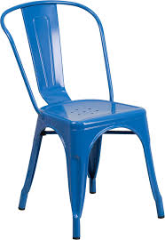 blue metal indoor outdoor stackable chair ch 31230 bl gg