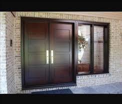 exterior steel double doors. Double Wood Entry Doors Exterior Steel Dark Wooden Modern Door With