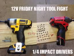dewalt 12v tools. friday night tool fight - milwaukee vs dewalt 12v impact drivers youtube dewalt 12v tools