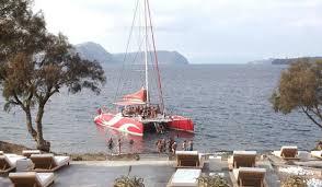 Dream Catcher Boat Santorini Dream Catcher anchored off Blue Lagoon Beach Picture of 24