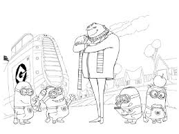Small Picture Kids Under 7 Despicable me Coloring pages