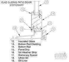 sliding patio door sill weatherstrip v1138 sold by foot beige regarding marvin weather stripping plans 4