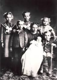 Boyack children(Left to Right)- Jessie, James Elmer, Elizabeth Archibald,  Louisa Mary, Maggie Priscilla, Franklin Pace (in chair), an… | Edna,  Louisa, Archibald