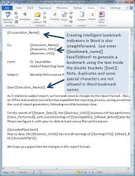 Reporting Formats In Word How To Quickly And Accurately Populate Word Documents With Excel