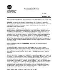 nasa form 1018 fillable online government property instructions for preparing