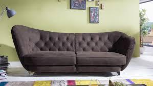 Couch Microfaser Braun Cherry
