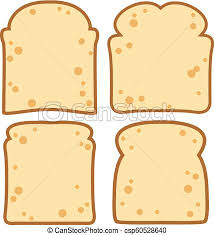 Vector White Bread Slices Vector Collection Of White Bread Slices