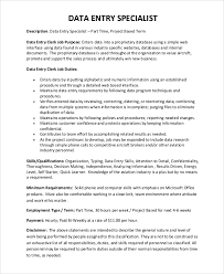 data entry job description for resumes sample data entry resume 6 examples in pdf word