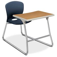 hon accomplish adjule height desk and chair combination with chrome legs set of 2