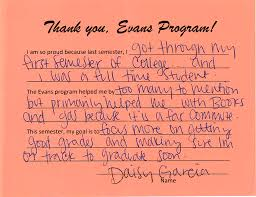 evans testimonials mpc foundation i am so proud because last semester i got through my first semester of college