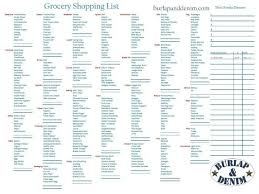 Grocery List Prices Grocery Shopping List With Walmart Price Matching Section