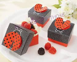 204pcs cute as a bug 3 d wing ladybug candy box beter th038 diy wedding favor box