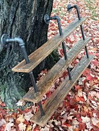 diy pallet iron pipe. Diy Pallet And Iron Pipe Triple Shelf