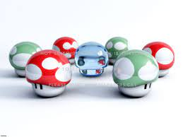 3d mushrooms from mario abstract 7up robot