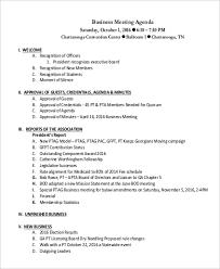 40 Sample Meeting Agenda Format Sample Templates Impressive Business Meeting Agenda Format