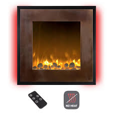 northwest 24 in wall mount no heat electric fireplace in bronze black