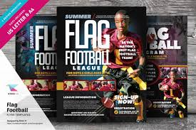 Flag Football Flyer Templates ~ Flyer Templates ~ Creative Market