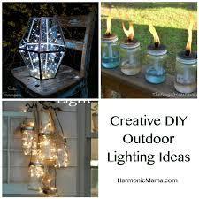 Outdoor lighting ideas diy String Lights Friday Finds Creative Diy Outdoor Lighting Ideas Harmonic Mama Friday Finds Creative Diy Outdoor Lighting Ideas Harmonic Mama