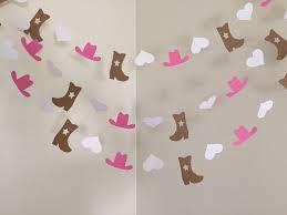 Cowgirl Birthday Decorations Cowgirl Birthday Party Decoration Cowgirl Party Garland Cowgirl