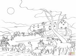 Animals Loading Noah S Ark Coloring