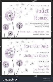 Wedding Invitations Templates Purple Set Floral Wedding Invitation Template Purple Stock Vector Royalty