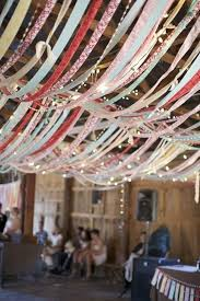 no decoration is complete without silk ribbons for ceilings décor they are commonly used as streamers ribbon chandeliers are also getting trendy
