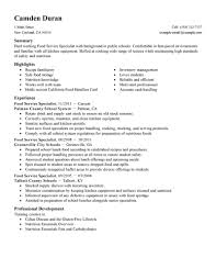 Configuration Management Specialist Resume Example Food Education
