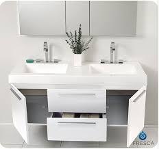 54 inch bathroom vanity double sink. fresca fvn8013go opulento 54 inch white double bathroom vanity sink h
