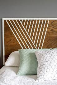 Create Your Own Headboard Using Birch Wood, Trim and Paint