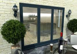 folding glass doors exterior cost grey patio door