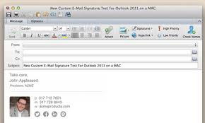 Outlook Mac Email Template Link To Image In Outlook For Mac Email Signature